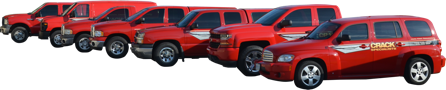 Fleet of red trucks